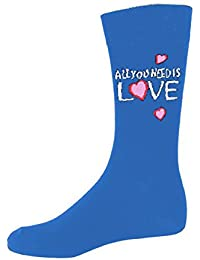 The Beatles All You Need Is Love 公式 メンズ 新しい ブルー 靴下 (UK Size 7-11)