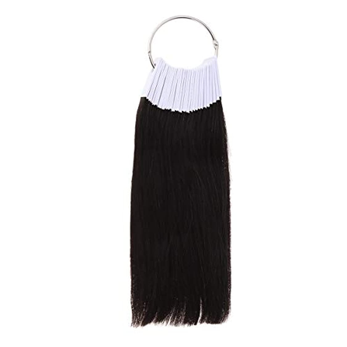 LURROSE 30PCSヘアカラーリング人間の髪の色見本サロン用カラーサンプル(9度色)
