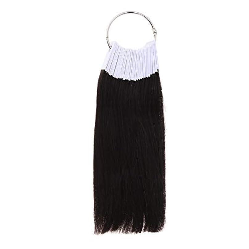 切り刻む黒くする農村LURROSE 30PCSヘアカラーリング人間の髪の色見本サロン用カラーサンプル(9度色)