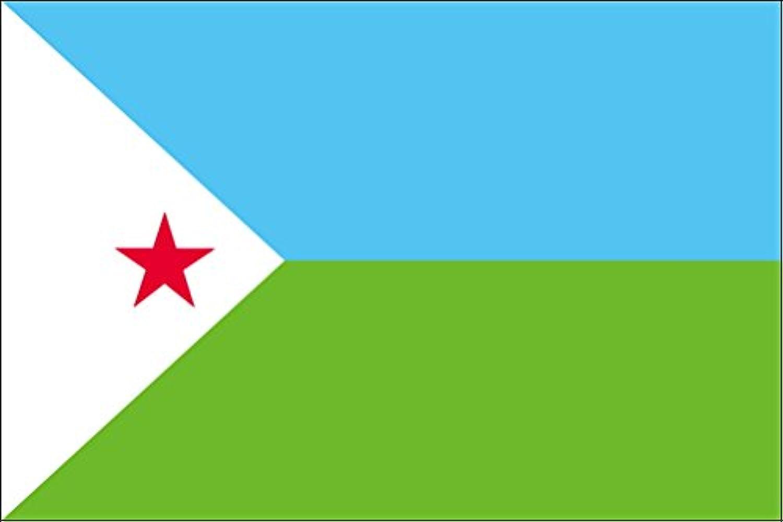 世界の国旗 ジブチ 国旗 [120×180cm 高級テトロン製]