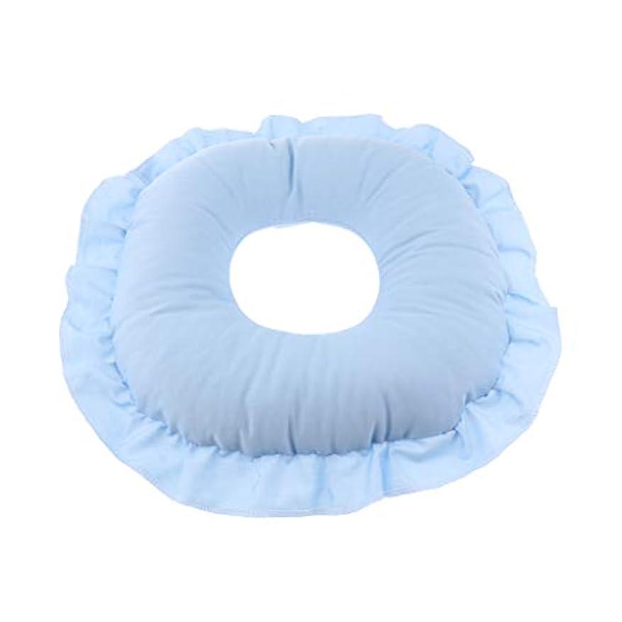 してはいけません木製ナイロン全3色 フェイスピロー 顔枕 マッサージ枕 フェイスクッション 柔軟 洗えるカバー 快適 全3色 - 青