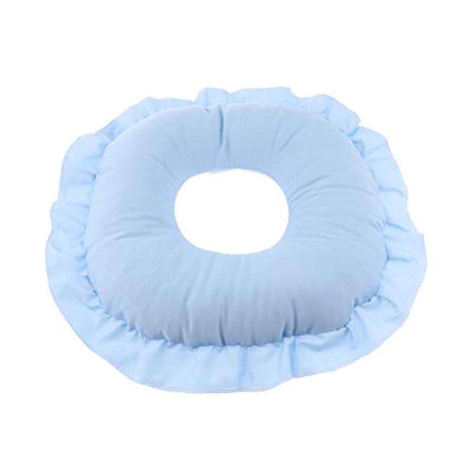 成果ヘルシーその間全3色 フェイスピロー 顔枕 マッサージ枕 フェイスクッション 柔軟 洗えるカバー 快適 全3色 - 青