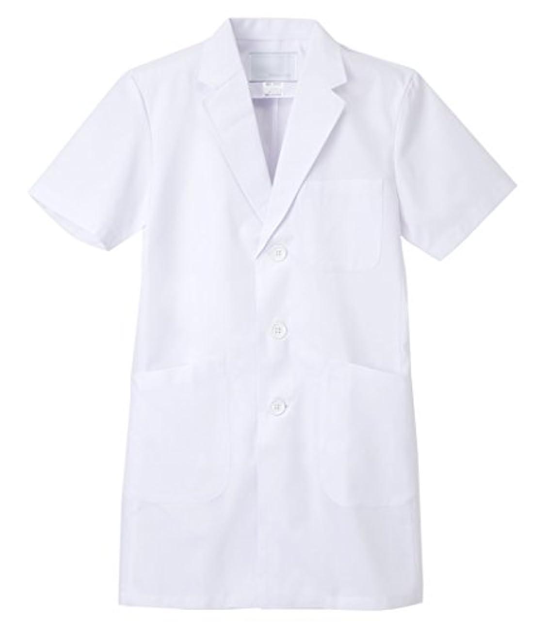 つま先ご覧くださいバケツナガイレーベン NAGAILEBEN 男子シングル半袖診察衣 KEX-5112(EL)ホワイト