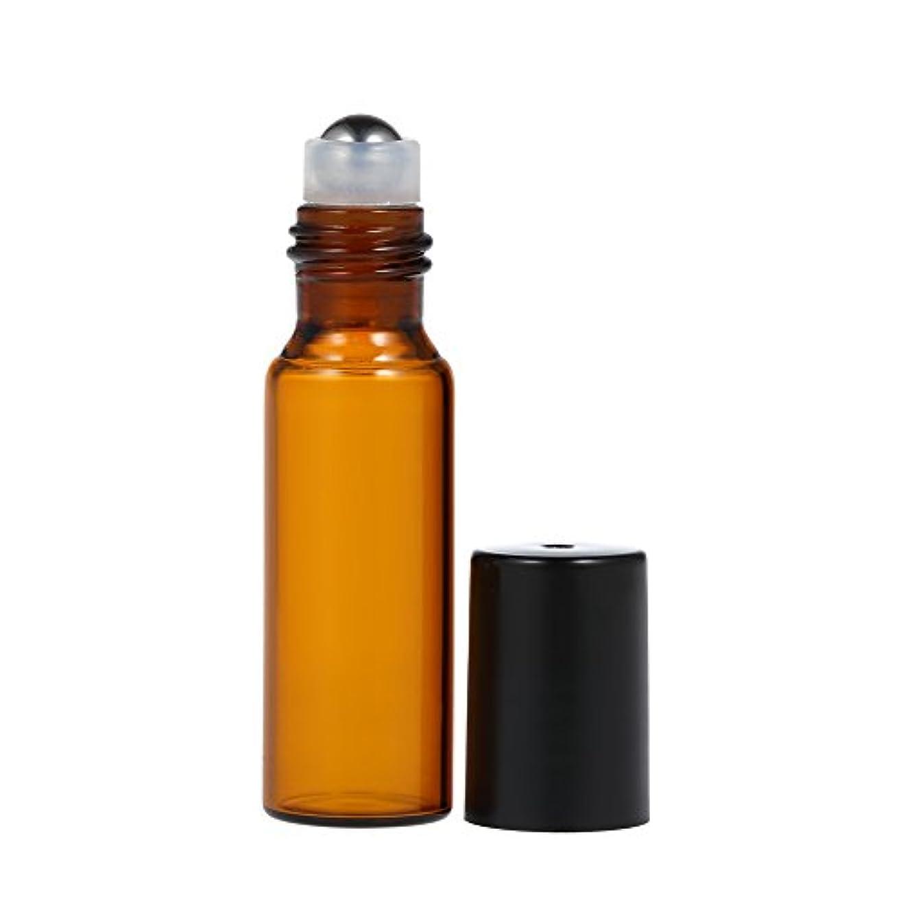 ティーム非効率的な取り除くDecdeal エッセンシャルオイルボトル アンバー ガラスボトル エッセンシャルオイルジャー 10個10ml