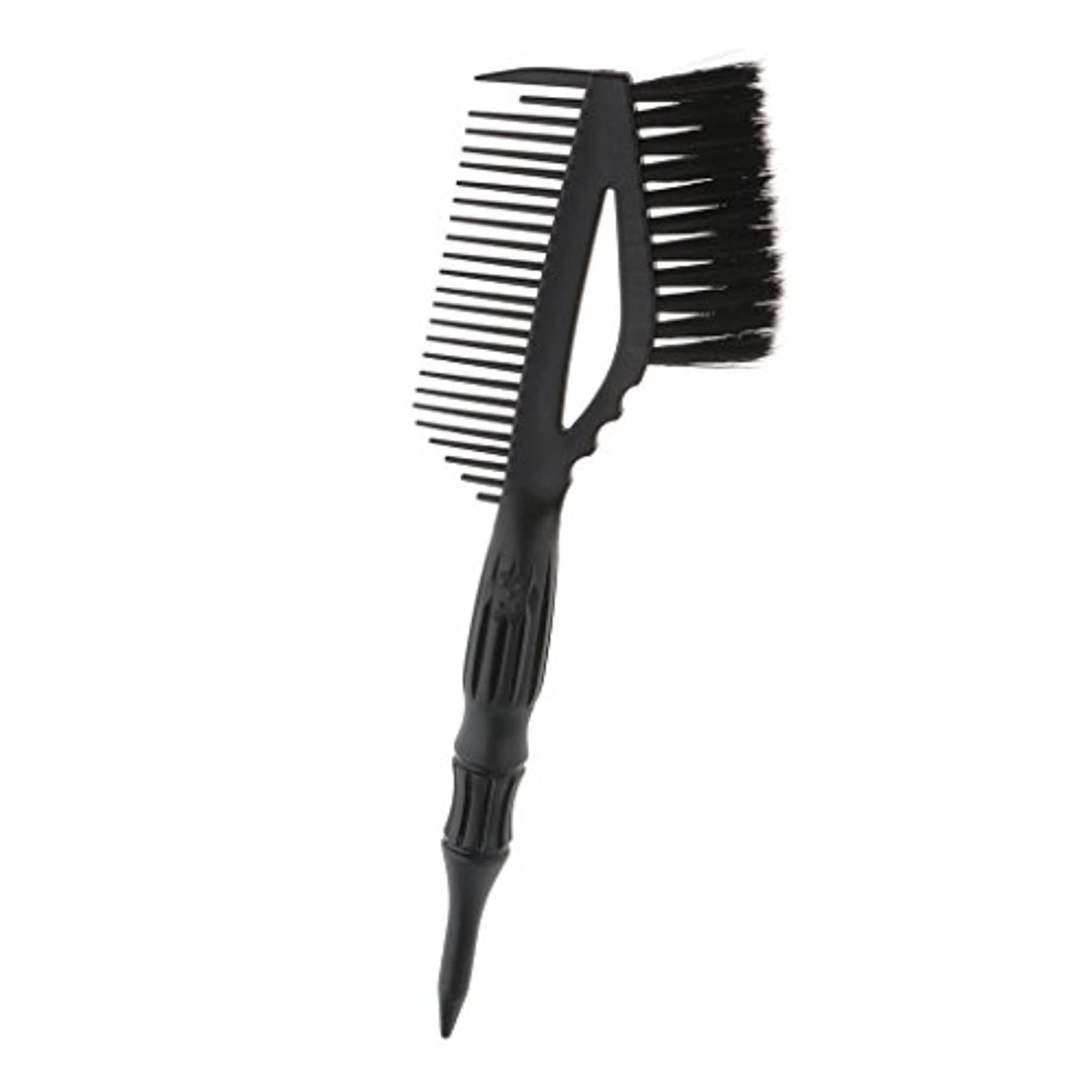 抵抗浮く弁護ヘア 染色 コーム ブラシ付き ヘアカラー 櫛 ヘアダイブラシ 静電気防止 高温耐性 全2色 - ブラック