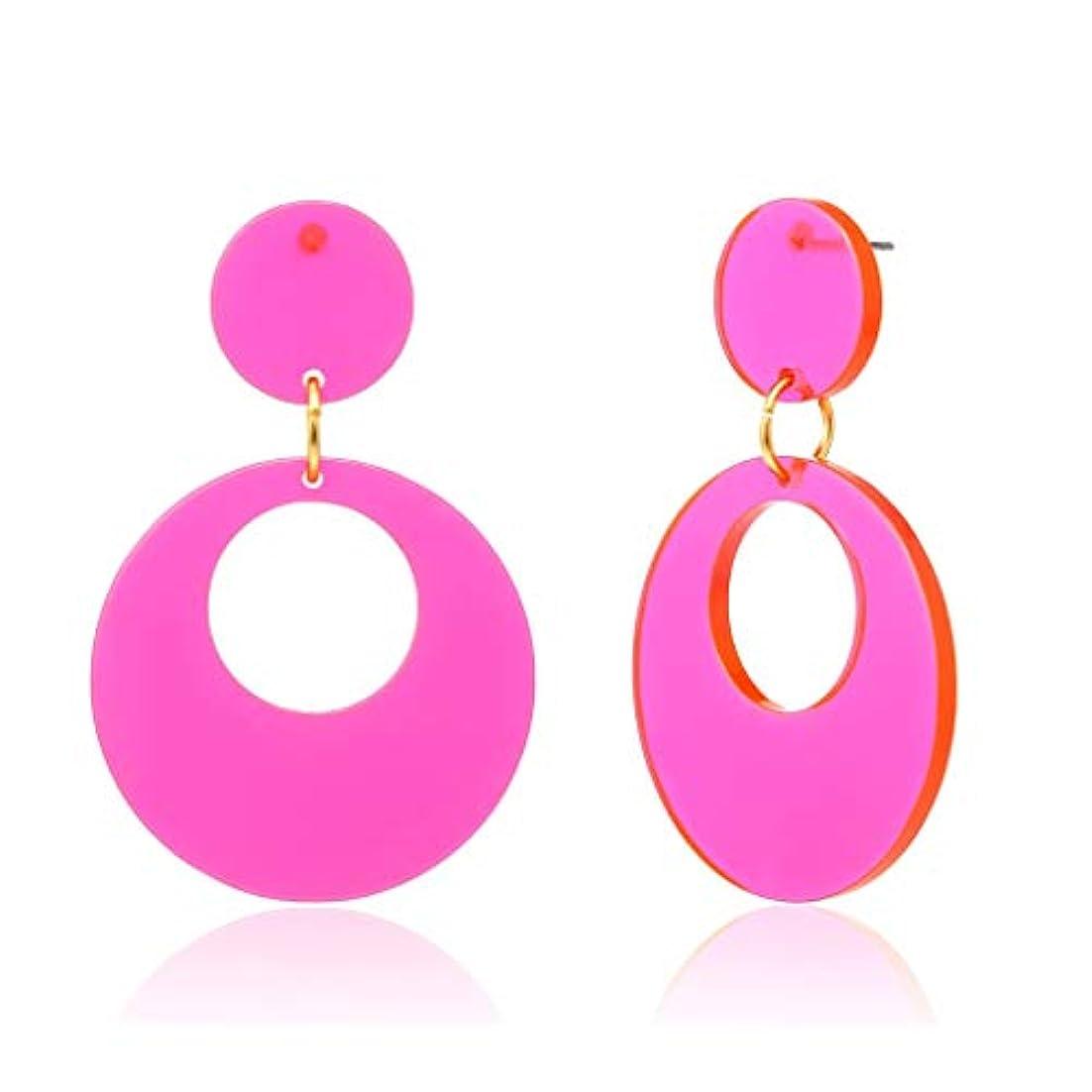 知らせる真珠のような普通のDream イヤリング レディース リングピアス ノンホール フープ フェイクピアス ボヘミアンスタイル (ピンク)