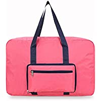 ソリッドカラーストレージバッグ高品質のポータブルフォールディングオックスフォード布防水防湿トラベルオーガナイザーの羽毛布団の衣服移動仕上げ荷物袋 (色 : ローズレッド)