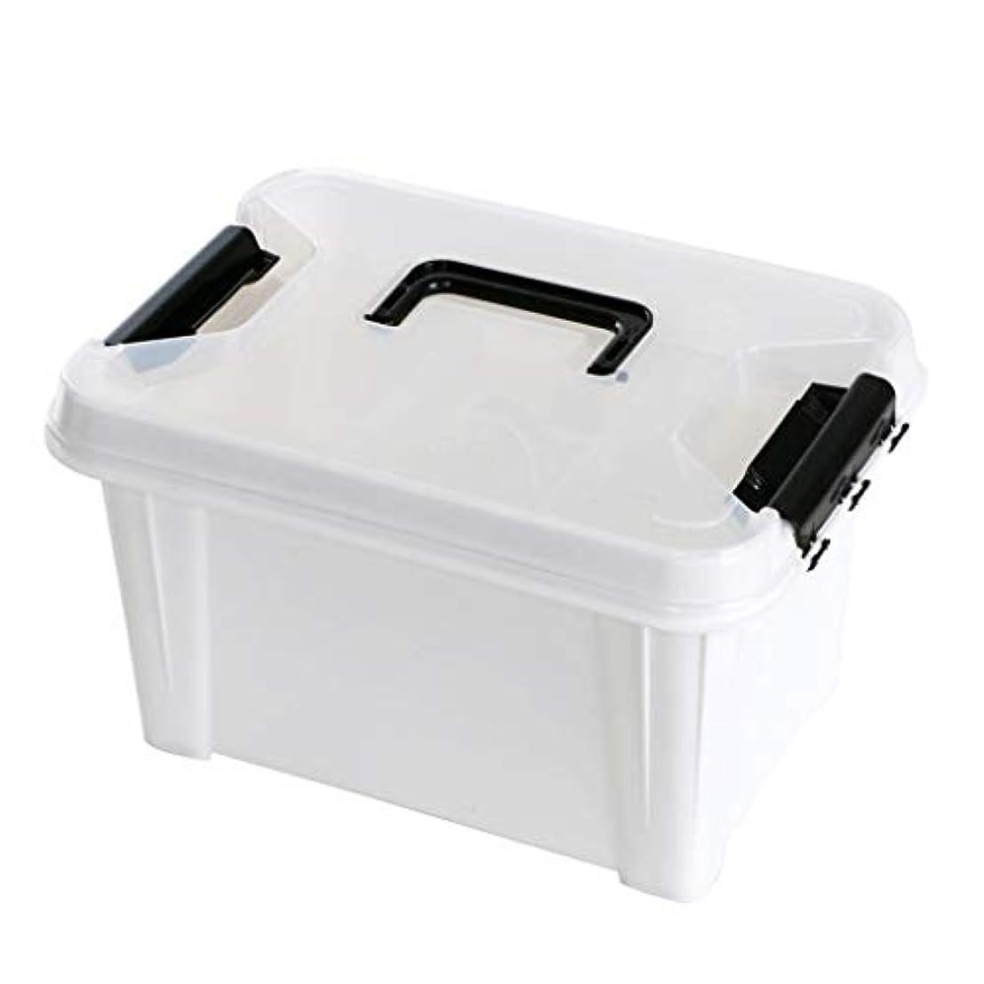 歴史的メニュークランプピルボックスPP 33 * 24 * 19cm家庭用薬ボックス薬収納ボックス (色 : 白)