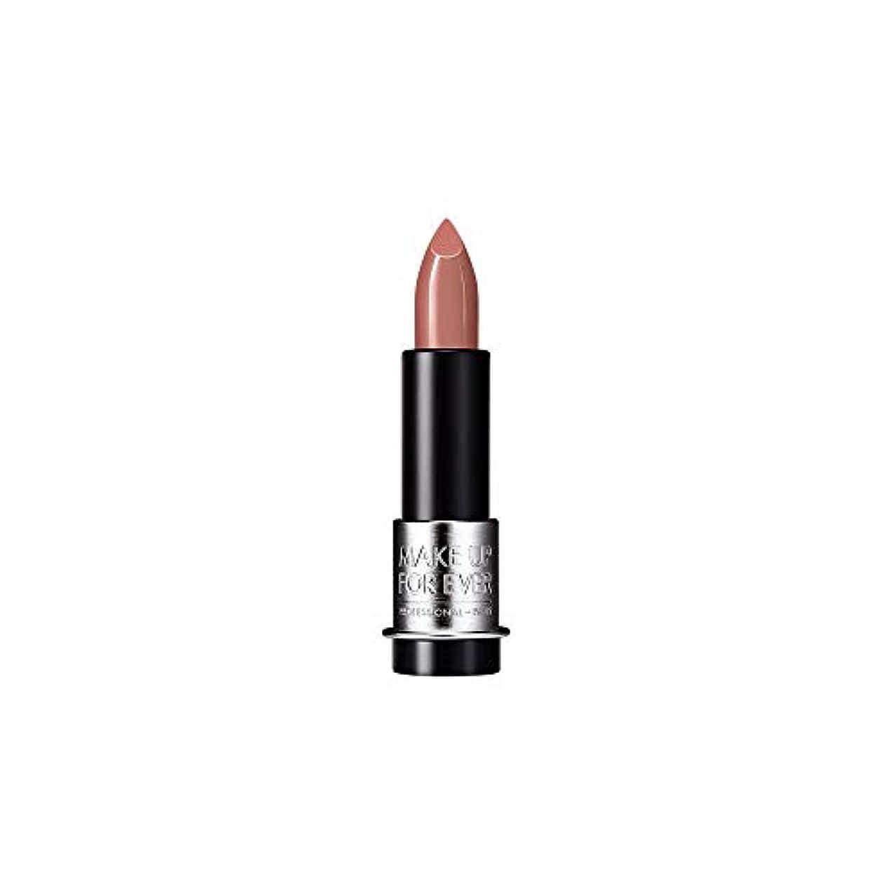 マウントここに見物人[MAKE UP FOR EVER] キャラメルベージュ - これまでアーティストルージュマット口紅3.5グラムのM101を補います - MAKE UP FOR EVER Artist Rouge Mat Lipstick 3.5g M101 - Caramel Beige [並行輸入品]