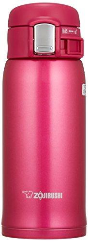 象印マホービン(ZOJIRUSHI) 水筒 ステンレス マグ ボトル 直飲み 軽量 保冷 保温 ワンタッチ オープン タイプ 軽量 コンパクト 360ml ディープチェリー SM-SD36-PV