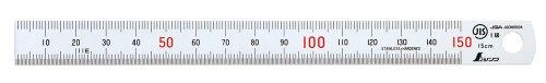 シンワ測定 直尺 シルバー (反射抑制加工) 15cm JIS1級 13005