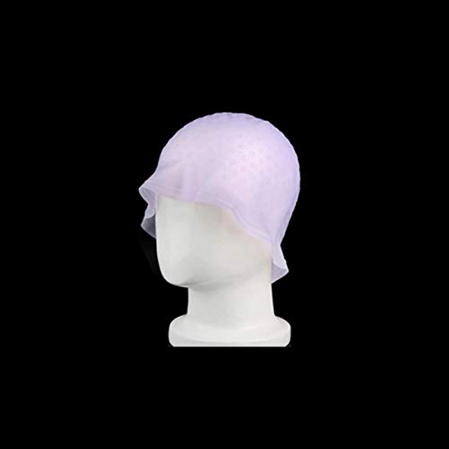 フェード微生物コンクリートDOMO カラーダイキャップ 染毛キャップ エコ サロン ヘア染めツール 再利用可能 染色用 ハイライト 髪染め工具