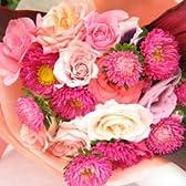 和風テイスト バラのブーケ(花束)S あでやか【生花】【お祝い】記念日】【誕生日】【フラワーギフト】【バラ】