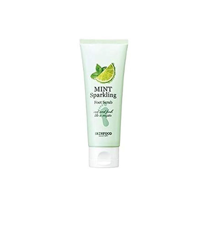 カニ地元前兆Skinfood ミントスパークリングフットスクラブ/Mint Sparkling Foot Scrub 100ml [並行輸入品]