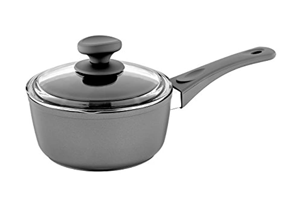 間違いアパートペフ(1.4l, Gray) - Saflon Titanium Nonstick 1.4l Sauce Pan with Tempered Glass Lid, 4mm Forged Aluminium with PFOA Free Coating from England