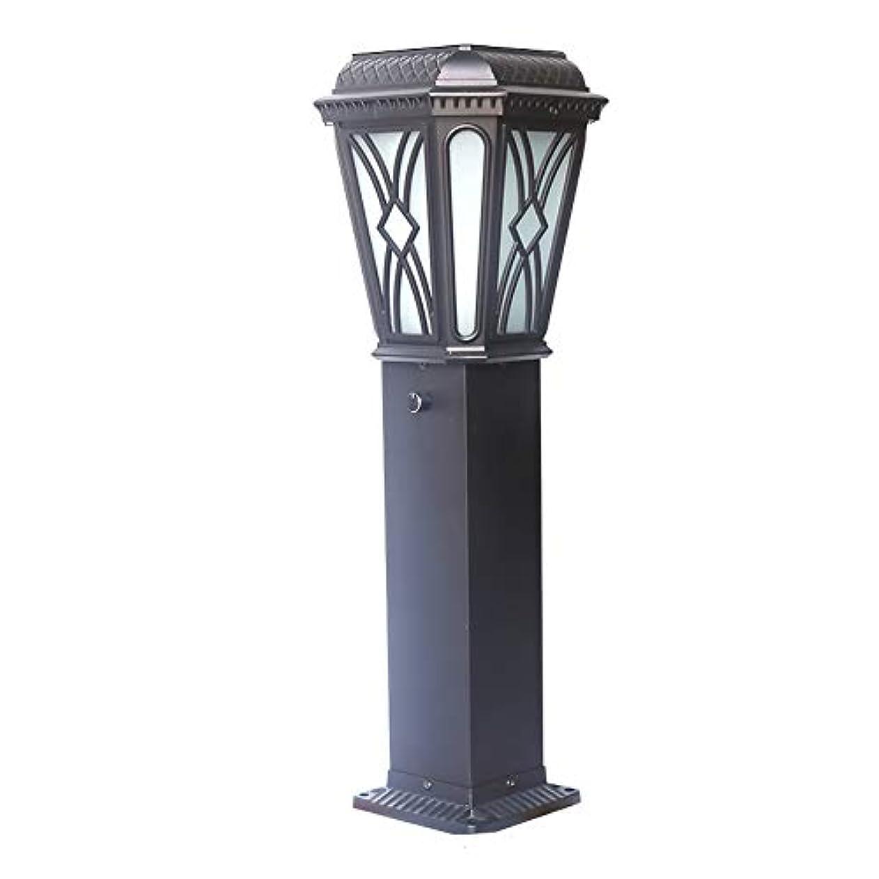 つかまえるモナリザ積分Pinjeer E27ヴィンテージクリエイティブパターン防水屋外ガラスポストライトヨーロッパレトロ工業用アルミコラムランプ芝生ガーデンストリートホーム照明柱ライト (Color : Solar energy)