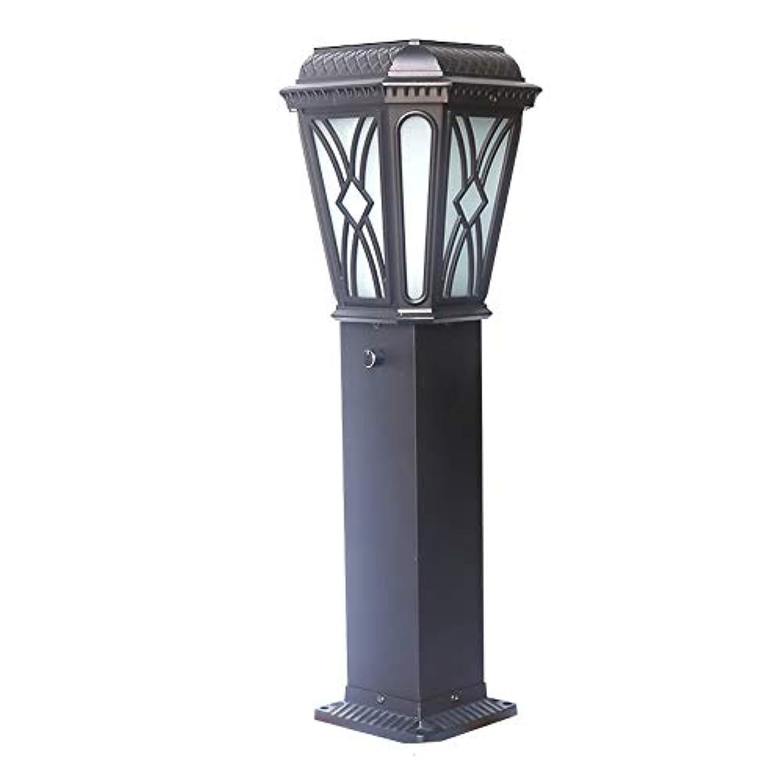 設置シリーズ漏れPinjeer E27ヴィンテージクリエイティブパターン防水屋外ガラスポストライトヨーロッパレトロ工業用アルミコラムランプ芝生ガーデンストリートホーム照明柱ライト (Color : Solar energy)