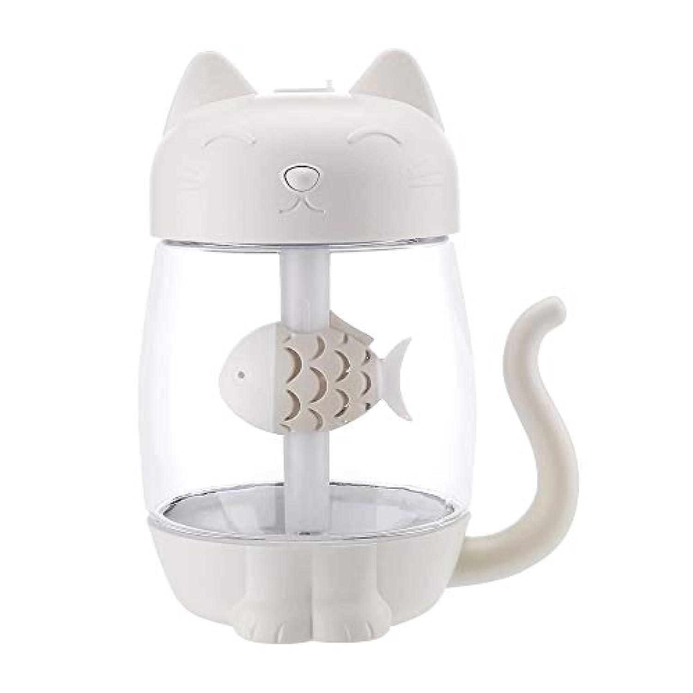 空気加湿器クリエイティブかわいいペットオフィスホームカーミニ水和霧家電 (色 : 白)