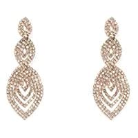 Colette Hayman - Diamante Cup Chain Tiered Earrings