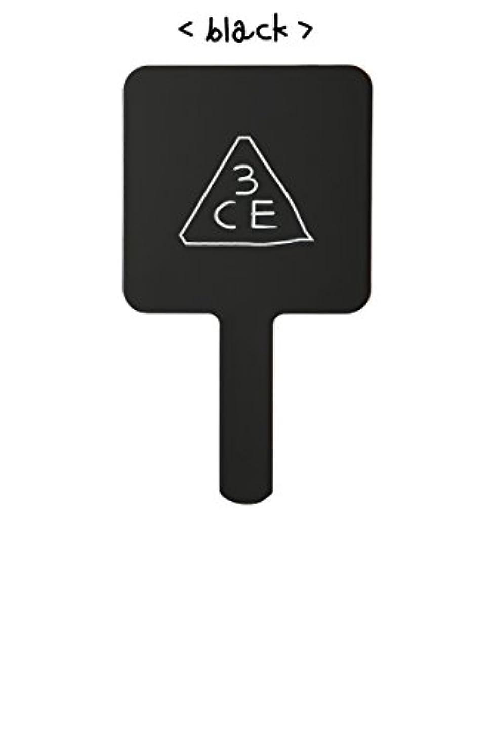 侵入本会議エコースリーコンセプトアイズ 3CE ミニ ハンド ミラー #BLACK