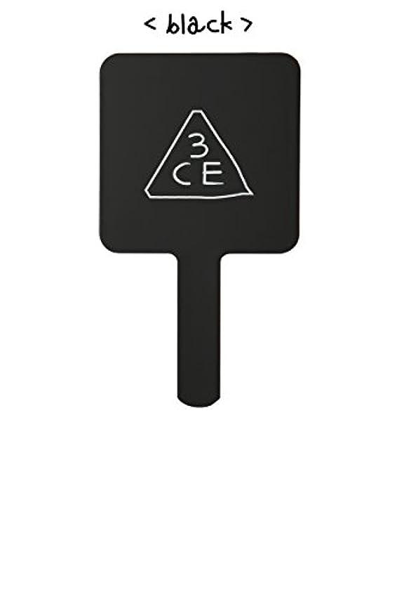 高架リーダーシップ朝スリーコンセプトアイズ 3CE ミニ ハンド ミラー #BLACK