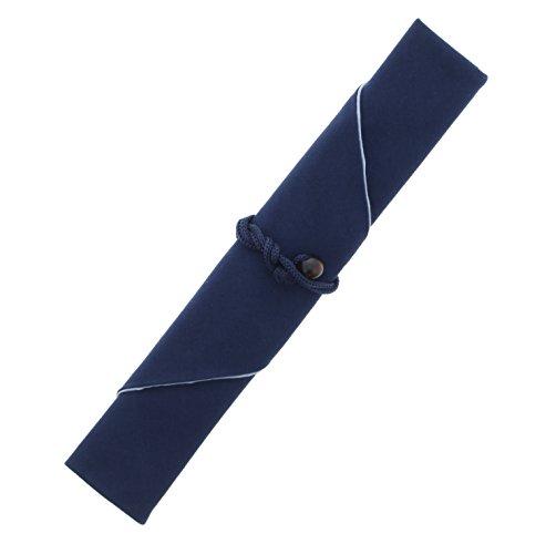 箸包み (箸入れ) MY 箸袋  (マイ 箸袋) 無地 洗える 中袋付 洗濯可 ネイビー