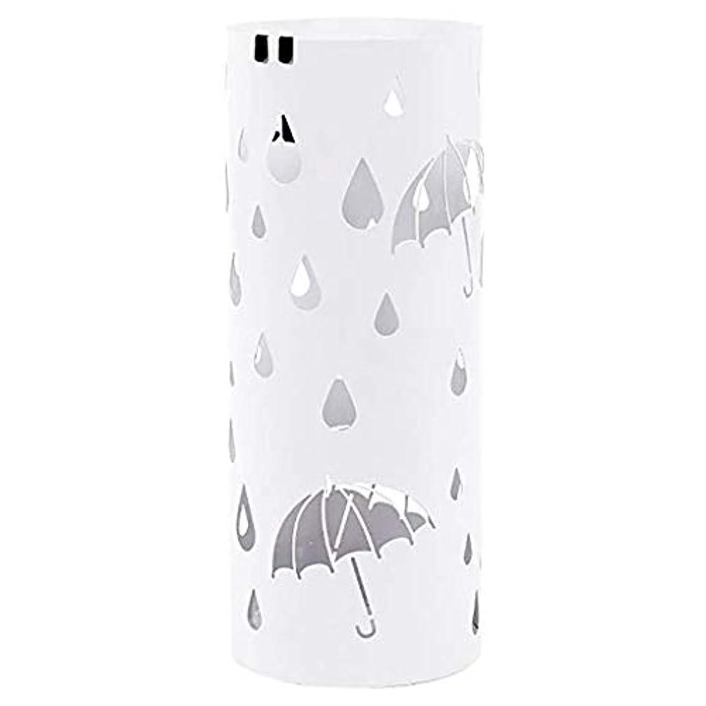 チャーター見積りモンク杖/ウォーキングスティック用傘立てホルダー50 cm * 20 cm丸鉄傘立て金属傘バケツ(色:白)
