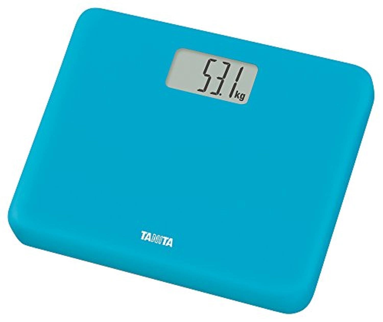 タニタ 体重計 小型 ブルー HD-660 BL 乗るだけで電源オン 約B5サイズ