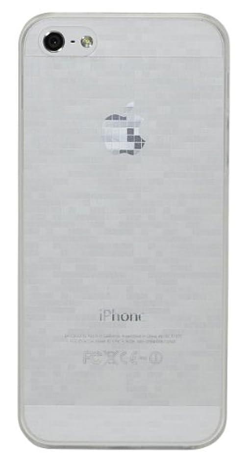 ファンタジーフェロー諸島めまいbaw&g iPhone5 薄型 モザイクケース (クリア) 液晶保護フィルム付き IP5-SC-PC02-TRA