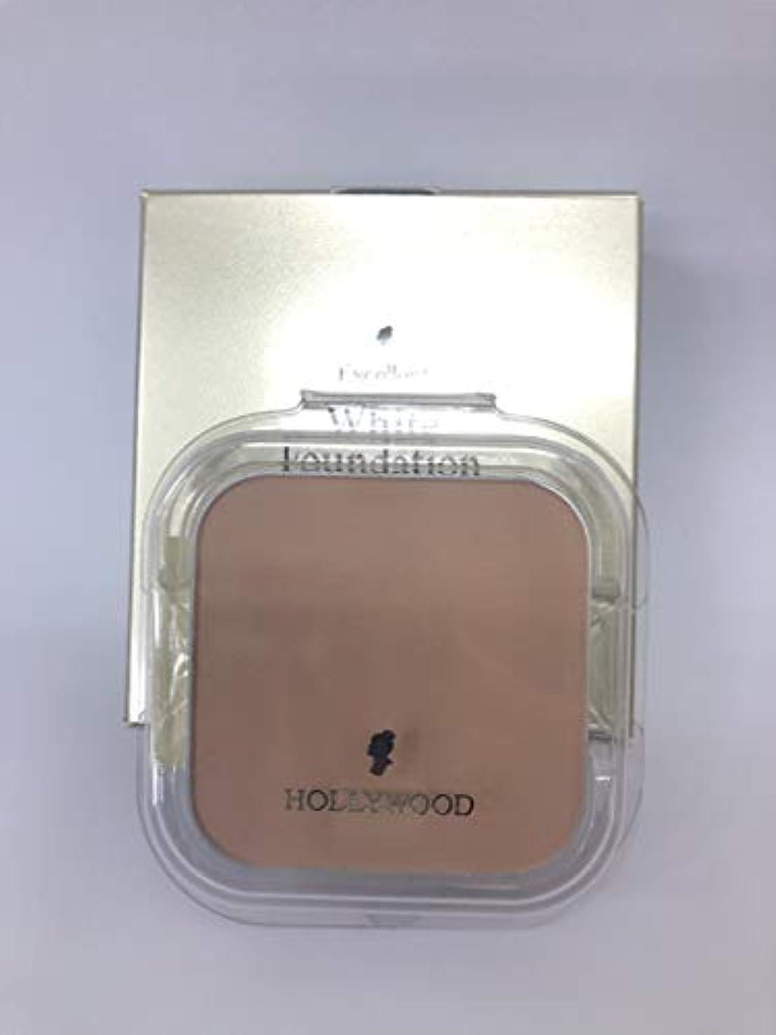 スタウト生産性必要とするハリウッド化粧品 エクセレント ホワイト ファンデーション 11 (パフ付)