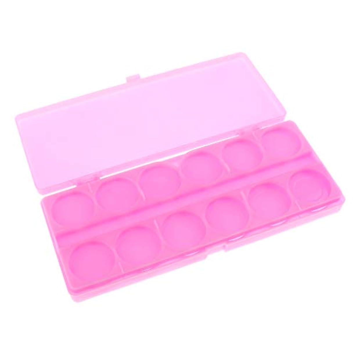 食堂コンクリート二週間gazechimp 顔料パレット ネイルアートペイントパレット プラスチック製 全3色 - ピンク