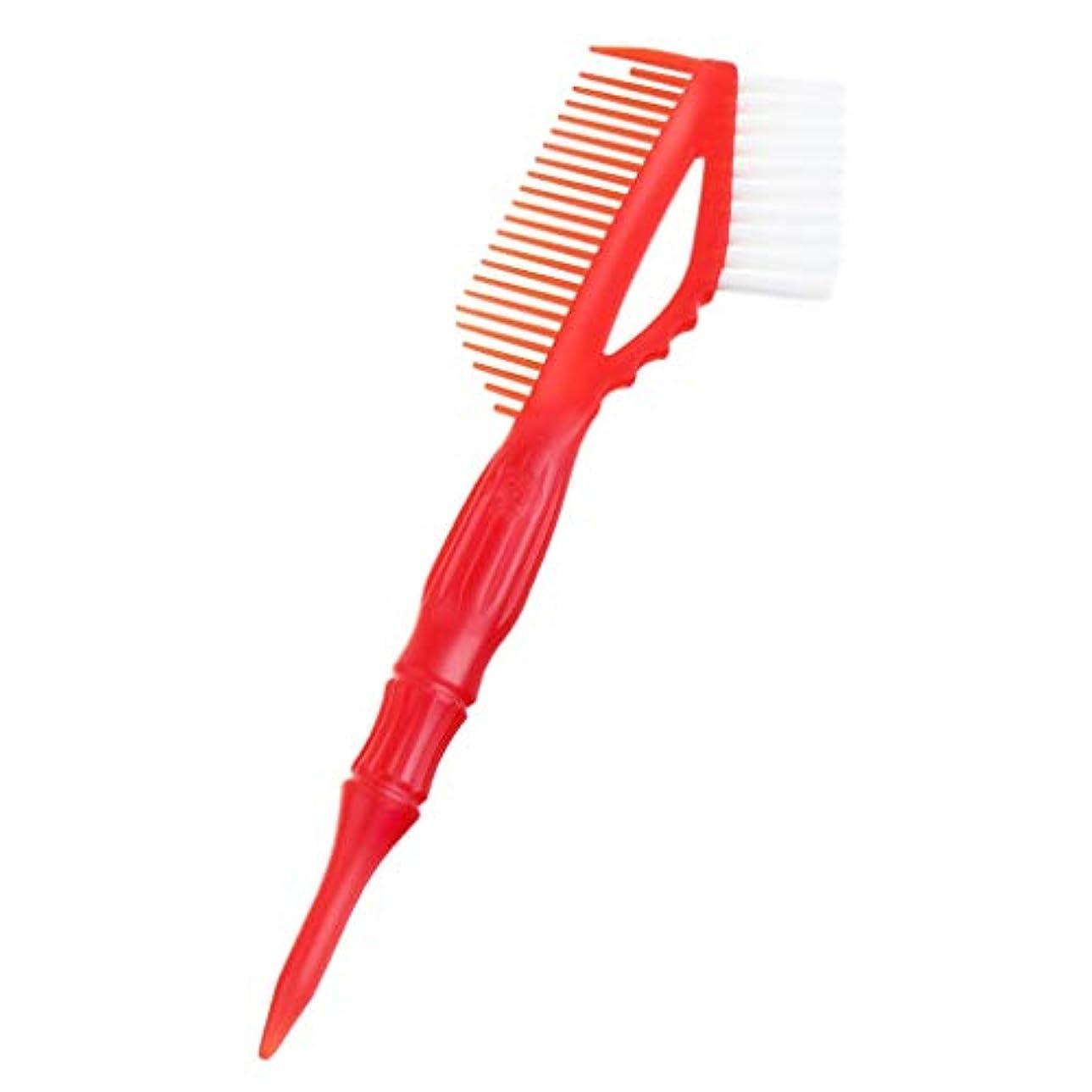 T TOOYFUL 9インチテールコームブラシ - からかいコーム - すべての髪タイプの軽量ラットテールコーム - 赤, 23×7.2×2cm