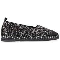 CASTANER Luxury Fashion Womens KARL4024NEGROPLATA Black Espadrilles |