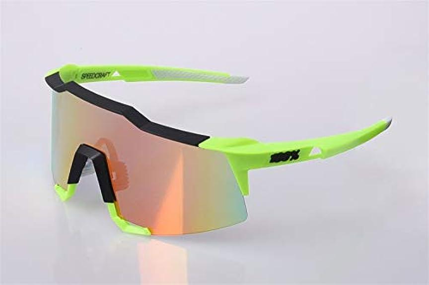 リード何十人も代表するFELICIAAA スポーツ用サングラスサイクリンググラス、交換可能なレンズ3個付き、色変更全天候用 (色 : D)