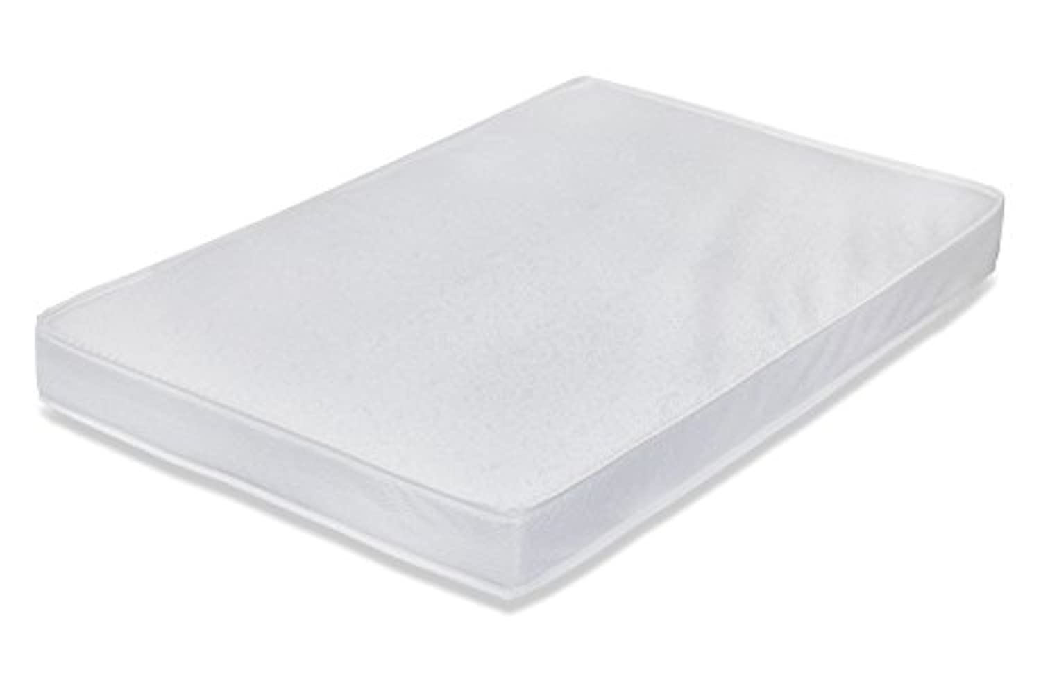 L A Baby Compact Porta Crib Pad Laminate Cover, White by L.A. Baby
