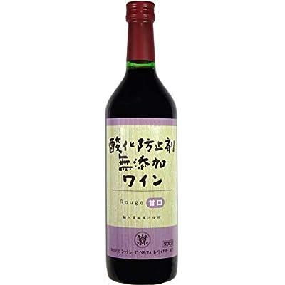 シャトレーゼベルフォーレワイナリー 酸化防止剤無添加ワイン 赤 甘口 720ml