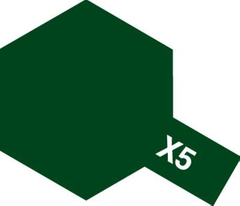 タミヤ 水溶性アクリルミニ X-5 グリーン つややかな緑 つやあり(光沢)