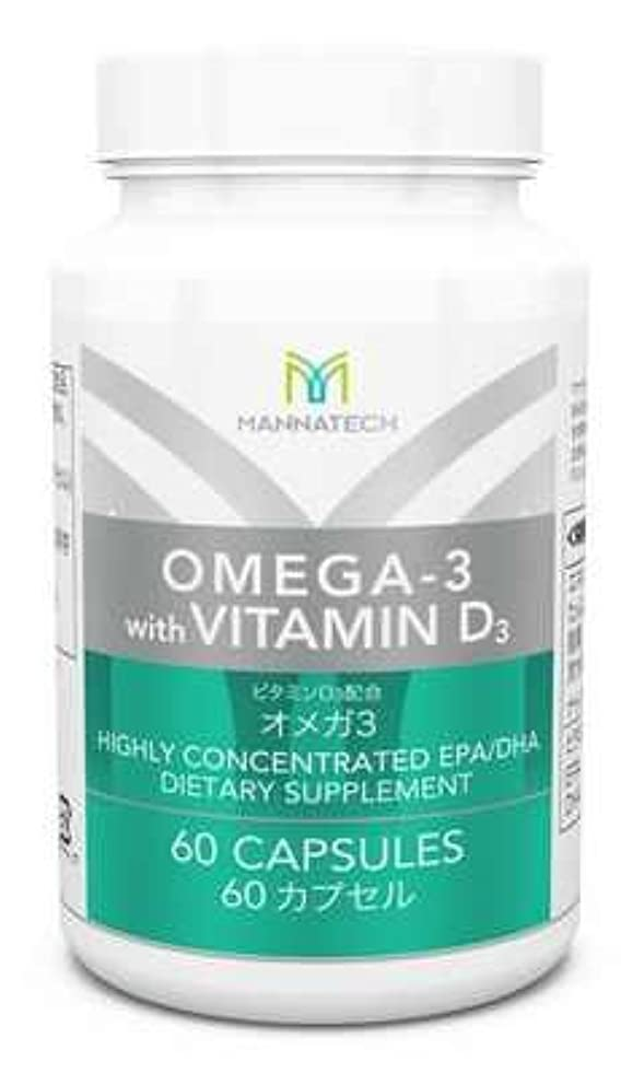 洗練基本的な恐怖症マナテック オメガ3 60カプセル 日本向 必須脂肪酸を手軽に摂取