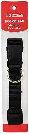 Furwear Basic Dog Collar, 25-45cm, Black
