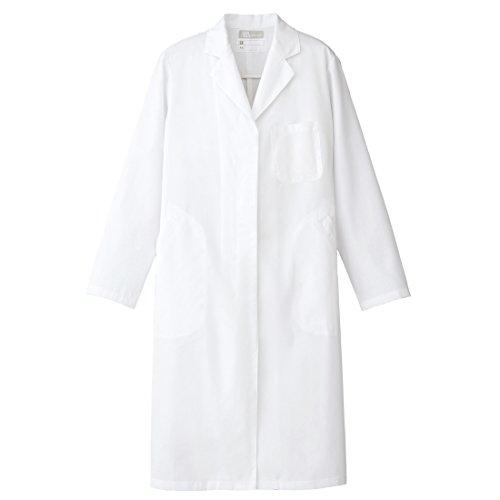 【Lumiere】ルミエール 女性用 実験衣 診察衣 ドクターコート シングル白衣 (861314) ホワイト  L