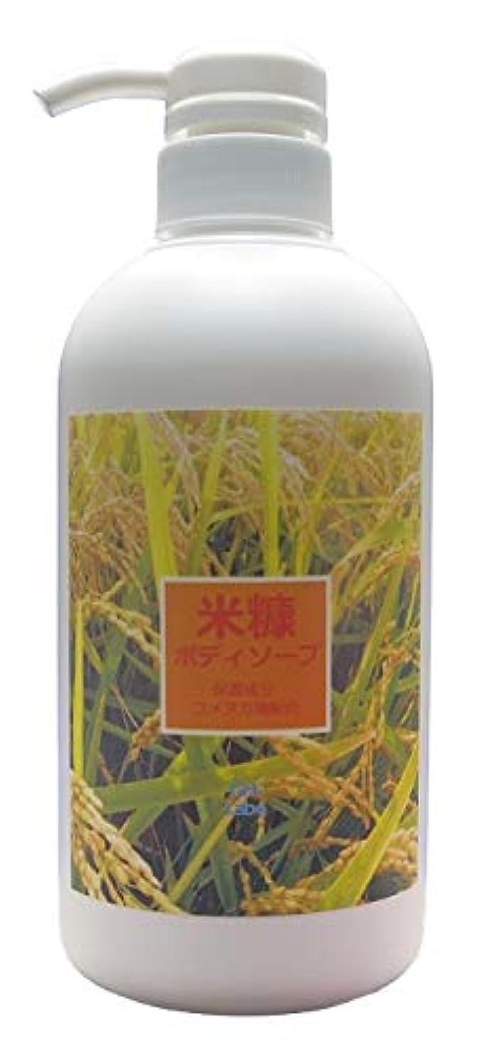 酸化する秋壮大なしっとり米糠のボディソープ 480mL