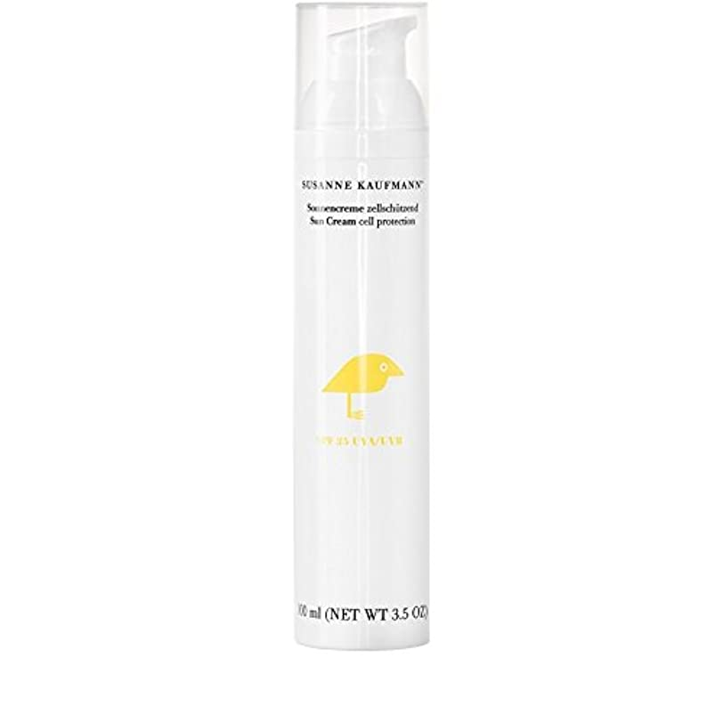 折り目祈りカストディアンSusanne Kaufmann Cell Protection Sun Cream SPF25 100ml - スザンヌカウフマン細胞保護日クリーム25の100ミリリットル [並行輸入品]