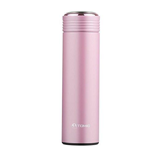 真空断熱ステンレス水筒 マグボトル 茶漉し付き 0.45L ピーチピンク 902906 TOMIC トミク