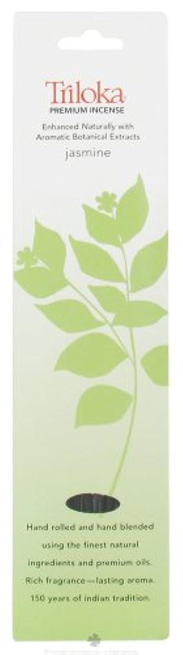 バランスふつう振動させるTriloka – プレミアムお香ジャスミン – 10スティック( S )