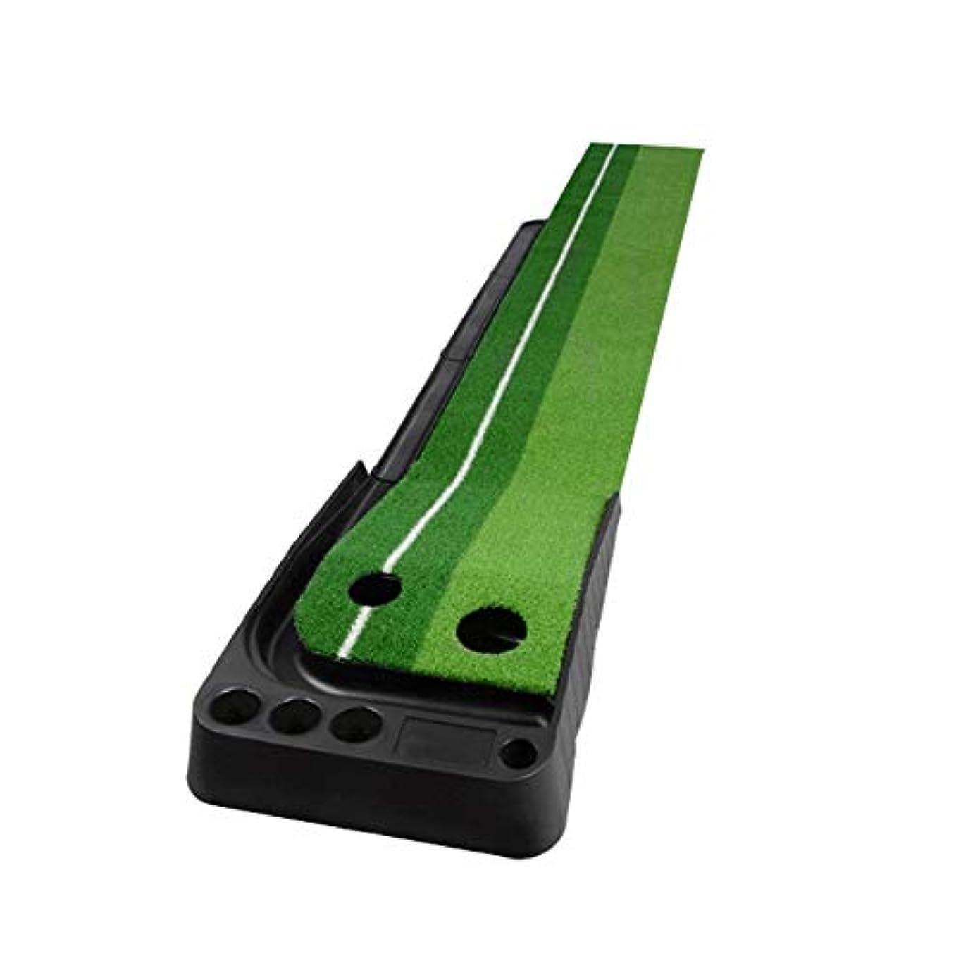 二年生密度富ゴルフ用品 オートボールリターンフェアウェイとPGMゴルフミニパッティングマットプッシュロッドトレーナー2.5m