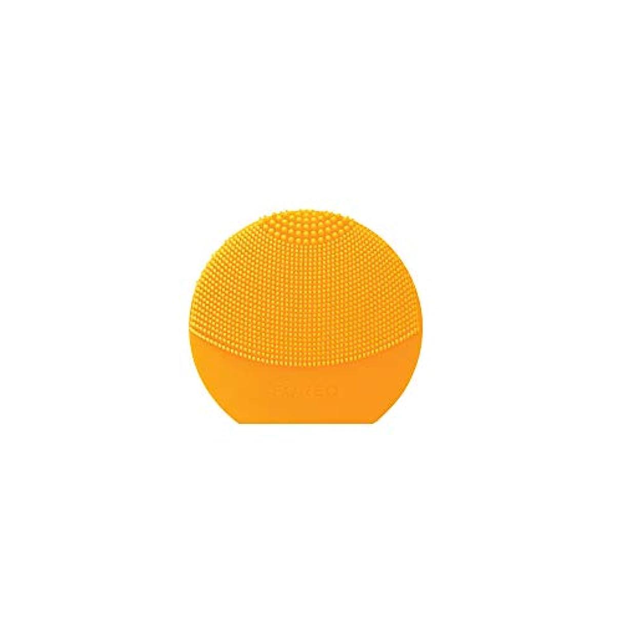 難民アクチュエータエーカーFOREO LUNA Play Plus サンフラワーイエロー シリコーン製 音波振動 電動洗顔ブラシ 電池式