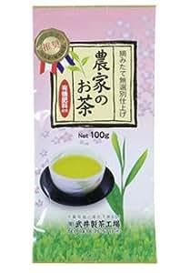 茶のたけい 袖ケ浦市特産推奨品 無選別 農家のお茶 深蒸し緑茶 自然栽培煎茶 100g