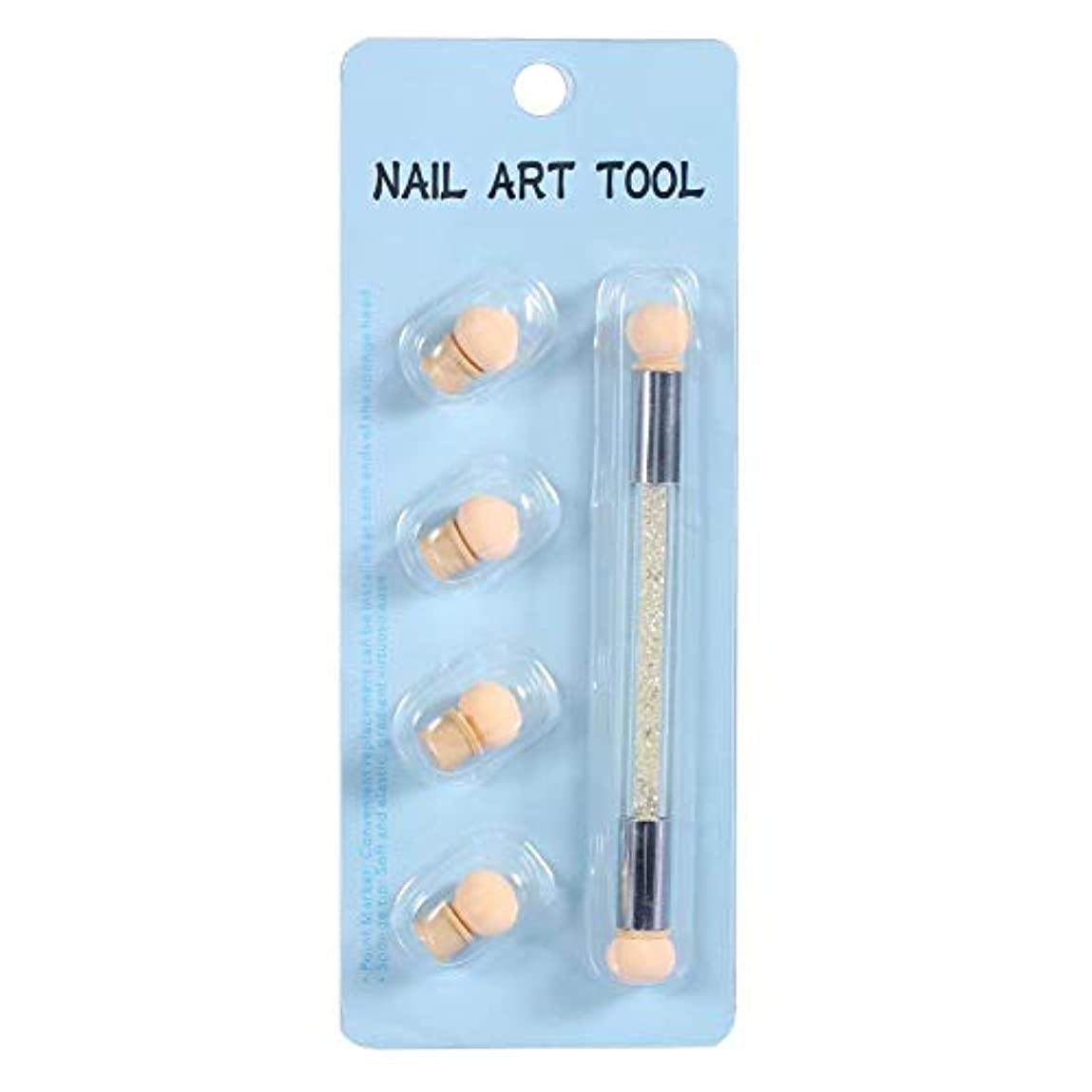 殺人いつも監督するネイルアート 4個 交換用 スポンジヘッド ネイルアートスポンジブラシ ネイル筆 ドットペン