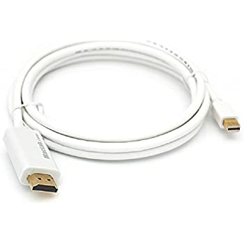 MacLab. Thunderbolt HDMI 変換 ケーブル 1.8m ホワイト Mini DisplayPort HDMI Mini DP サンダーボルト ミニディスプレイポート HDMI 相性保証 付| TV テレビ 接続 モニター 動画 写真 minidp マルチディスプレイ ミラーリング Apple アップル マック mac book macbook pro air imac mini Microsoft surface 対応