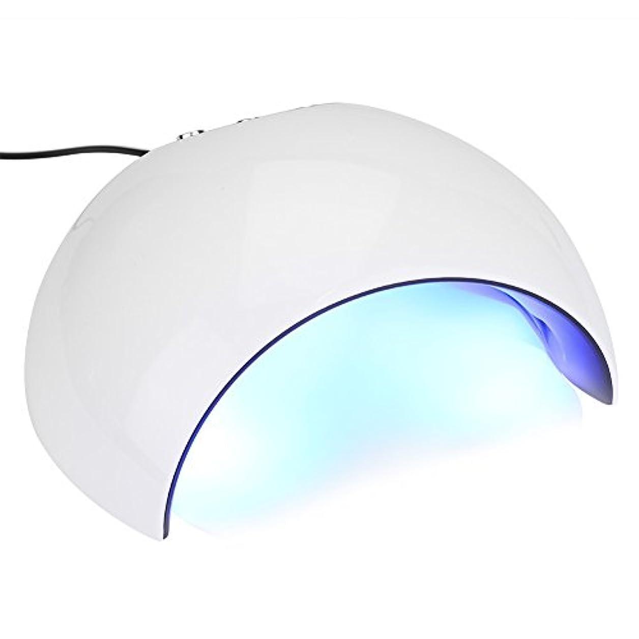 キュービック師匠宿泊施設24Wネイルドライヤー - 3タイマー60秒、90秒、120秒のUV LEDネイルランプ